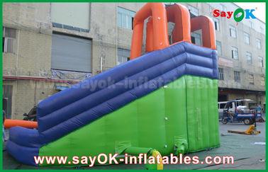 Multi-Fungsional Giant Outdoor Inflatable Bouncer Geser dengan Kolam Air untuk Pusat Hiburan