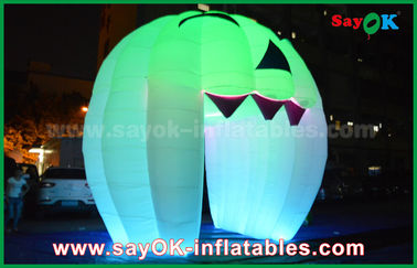 Cute Inflatable Holiday Dekorasi Lighting Ghost Door / Large Inflatable Pumpkin