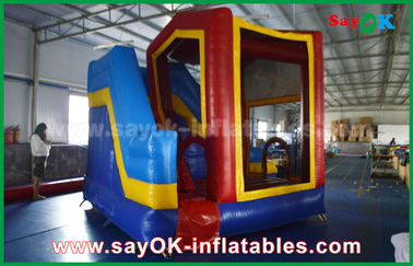 PVC Outdoor Miniones Bouncer Inflatable Slide / Anak Bounce Jumping House