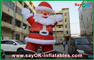 Custom Height Inflatable Holiday Decorations, Outdoor Inflatable Santa Claus
