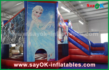 Fairy Tale Theme Salju Anak Inflatable Bounce / Blow Up Bounce House