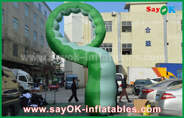 Green Oxford Cloth Inflatable Cartoon Characters / Inflatable Caterpillar