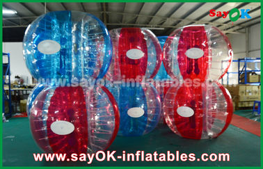 Heat Sealed Biru Dan Merah 0.7mm TPU Inflatable Bubble Ball Untuk Bermain