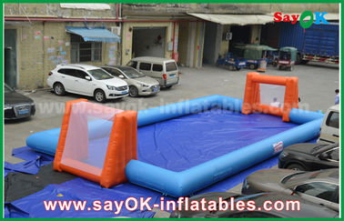 Word Cup PVC Inflatable Sports Games, Pitch Sepak Bola Tiup Disesuaikan