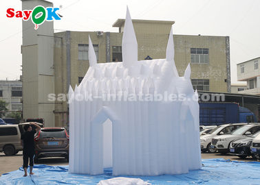 Putih 210D Oxford Cloth Inflatable Bouncy Castle Untuk Anak-Anak Ukuran Disesuaikan
