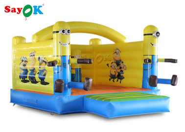 Cina Little Yellow Bouncy Castle Man PVC Tarpaulin Untuk Hiburan Outdoor pabrik