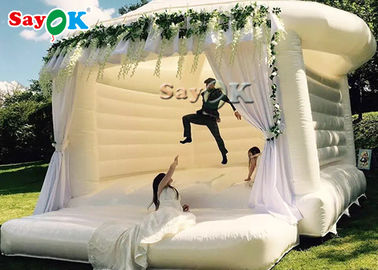 Cina Bouncing Inflatable Komersial Untuk Pesta Pernikahan / White Bouncy Castle pabrik