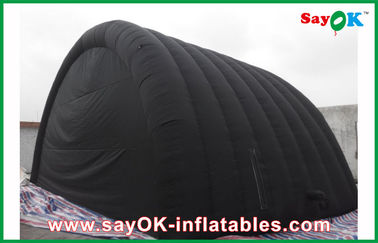 Hitam Waterproof Tenda Inflatable Air Dengan Oxford Kain Dan PVC Coating Untuk Ourdoor