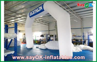 Italia Blue / Putih Inflatable Arch 6ml x 4mH Dengan Oxford Kain Dan PVC Coating