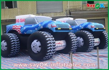 Biru 5M Inflatable Jeep Mobil 210D Oxford Kain Untuk Adversting