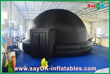 Hitam Inflatable Planetarium, Durable Inflatable Tent Proyeksi Ponsel Cinema
