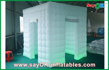 2 Doors Inflatable Photo Booth LED Light 2,4 Warna Berubah Dengan Blower